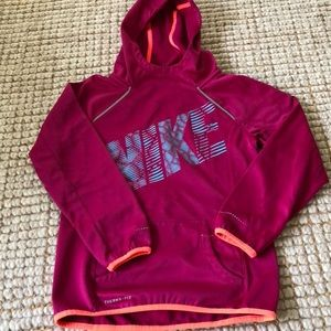 Girl's thermal-fit hooded sweatshirt, size M
